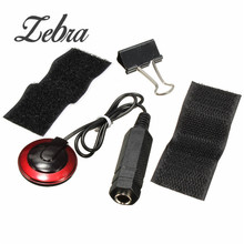 Zebra 1/4 inch jack Professional Piezo Contact Microphone Pickup with Clamp For Acoustic Stringed Instrument Guitar Violin Banjo