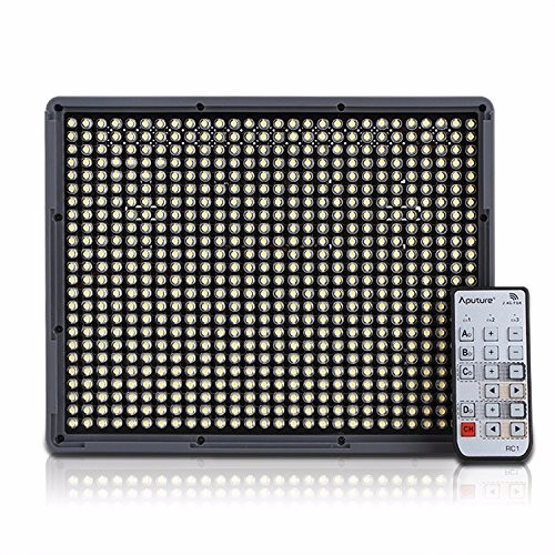 Aputure Amaran AL-HR672 Panel LED Video Light for Camcorder and DSLR Cameras LED Studio Phone Light with Wireless Remote Control aputure amaran tri 8s daylight balanced dimmable led video light panel ez box diffuser kit batteries 2 4g remote control v mount