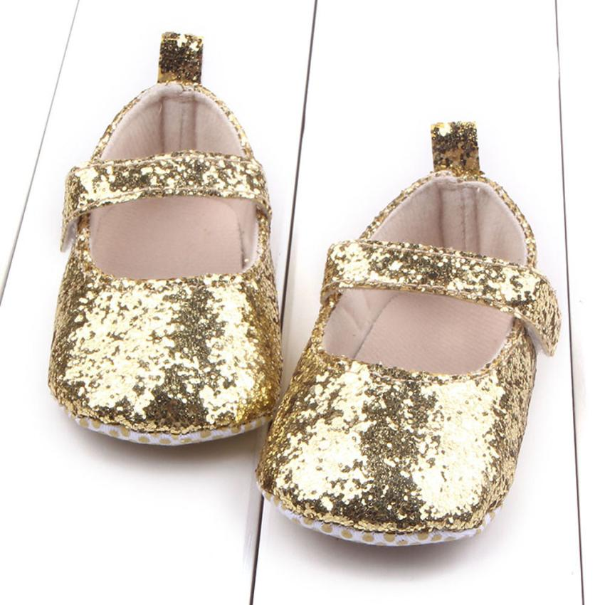 Baby Girl Shoes Hook Toddler Soft Sole Crib Shoes Bling Sequins Baby Shoes Sapato Infantil Menina #1104 baby girl prewalker shoes infant girl mikey sneakers mouse flower pink soft sole pram shoes sapato infantil menina zapatos bebes