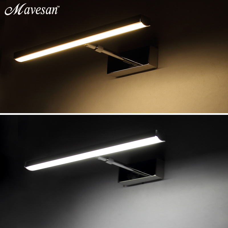 Hot sale Bathroom LED Mirror wall Lamp AC220V 110V Acrylic Wall Mini Style Warm White Cool