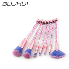 Фотография GUJHUI 7 Pcs/Set Pro Makeup Brushes Set Eyeshadow Blush Foundation Lip Fan Brush