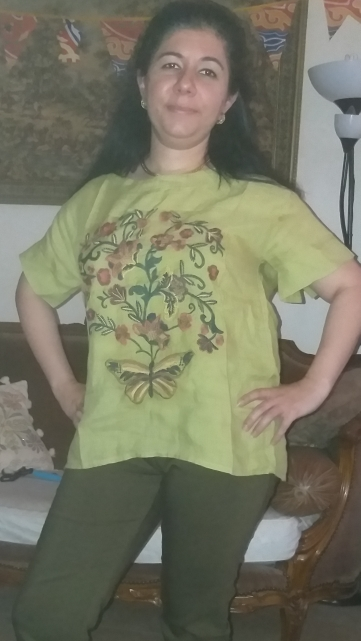 Summer Female Tops Short Sleeve Short Sleeved Shirt Head Loose Blouse Embroidered Shirt Fashion La Camisa photo review