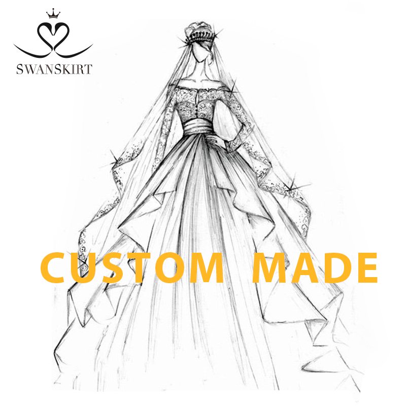 Swanskirt Custom Wedding Dress Online Shop China Customized Handmade Buy China Direct Custom Size Vestido De Noiva DZ