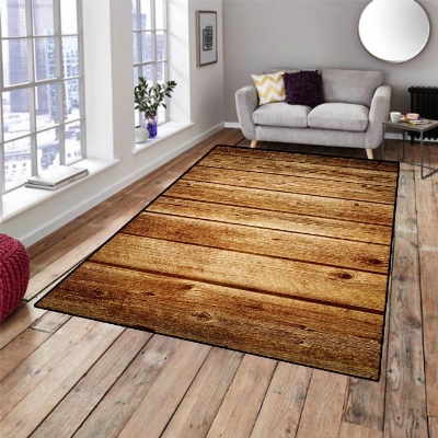 Else Brown Tree Woods Floral Nature 3d Pattern Print Non Slip Microfiber Living Room Decorative Modern Washable Area Rug Mat