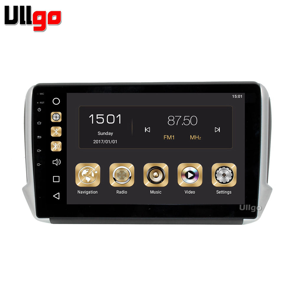 Octa Core <font><b>Android</b></font> 9.0 Car DVD GPS for <font><b>Peugeot</b></font> <font><b>208</b></font> 2008 Autoradio GPS Car Head Unit with 4G RAM+32G ROM with Mirror-link Wifi RDS image
