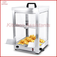 FY320A Electric Chip Display Warmer Showcase for popcorn peanuts Stainless Steel 300W
