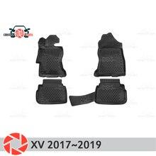 Коврики для Subaru XV 2017 ~ 2019 ковры Нескользящие полиуретановые грязи защиты подкладке автомобиля средства укладки волос