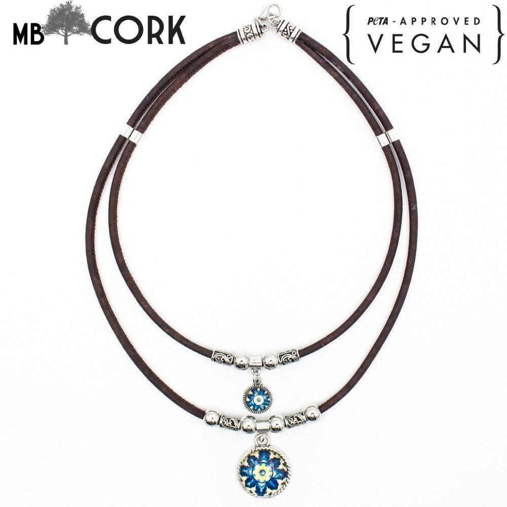 Cork Jewelry: Cork Jewelry Cork Necklace Brown Cork Traditional Ceramic