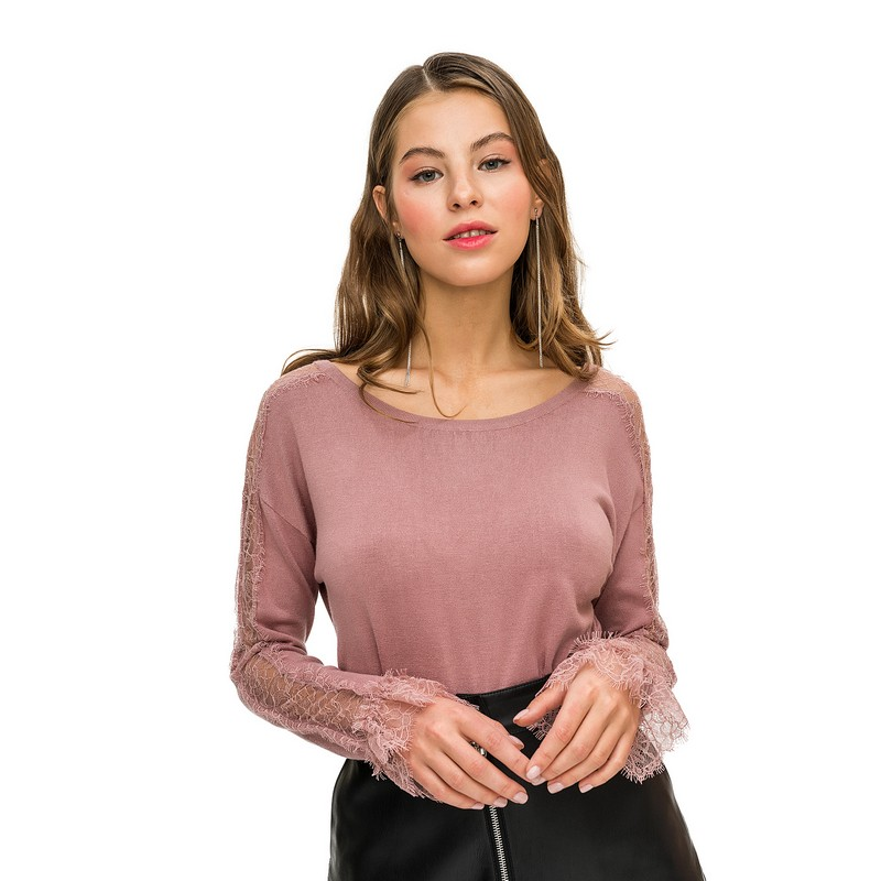 Sweaters jumper befree for female  sweater long sleeve women clothes apparel woman turtleneck pullover 1811458850-90 TF cutout dolman sleeve jumper