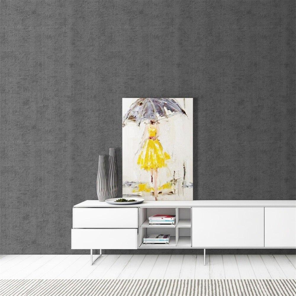 HaokHome moderne solide couleur Non tissé papier peint moderne soie revêtement mural gris Simple papier peint pour salon chambre décor