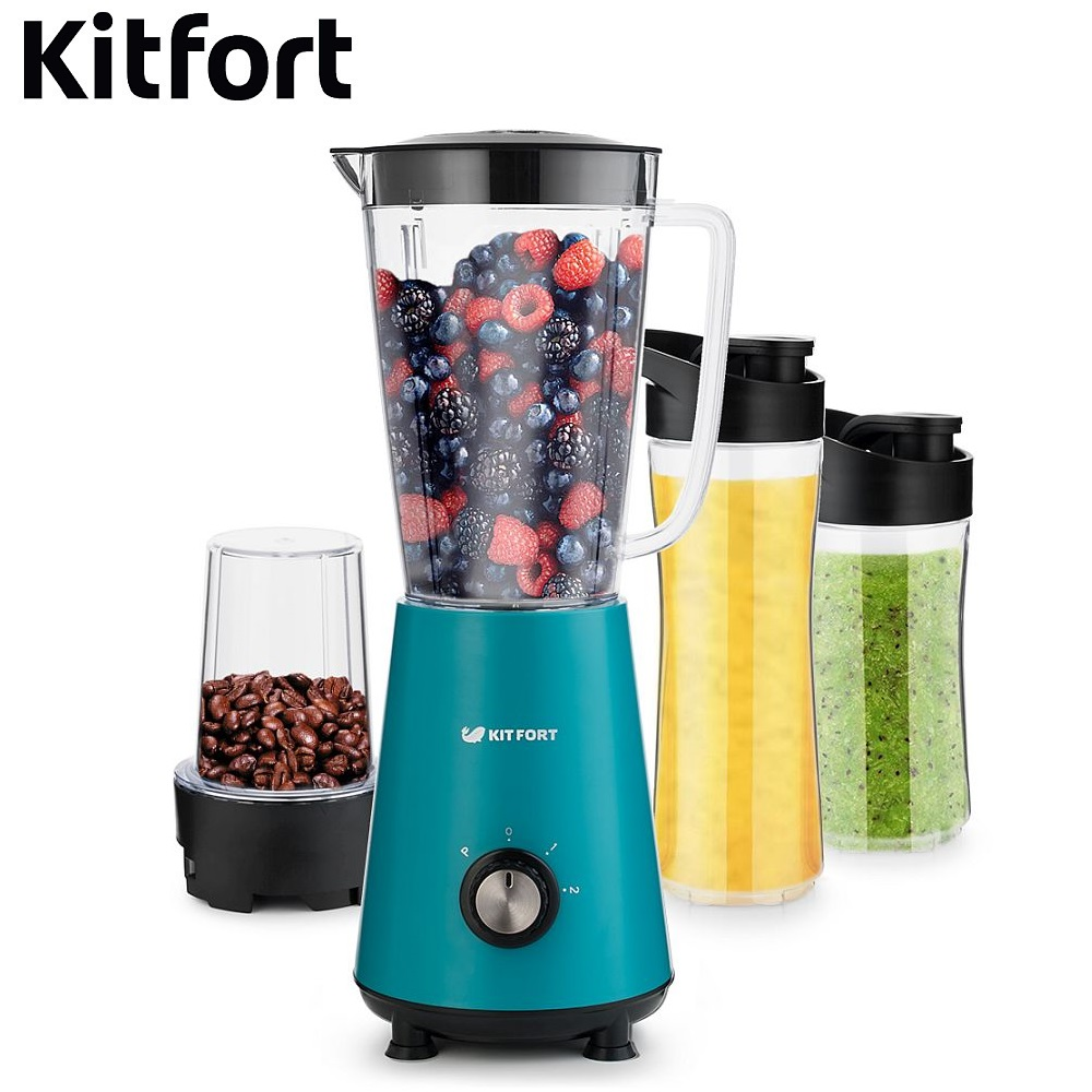 Blender smoothies Kitfort KT-1340 kitchen Juicer Portable blender kitchen Cocktail shaker Chopper Electric Mini blender portable manual juicer fruit tool