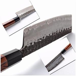 Image 3 - Grandsharp Handgemachte Nakiri Messer 3 Schichten Japanischen AUS10 Edelstahl ECO Freundliche Chef Kochen Küche Werkzeuge Gemüse Slic
