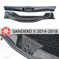 Coperchio sul davanzale del tronco per la Renault Sandero 2014-2018 tronco passo davanzale piatto interno trim accessori di protezione auto styling