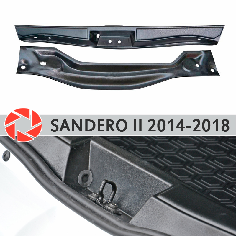 цена на Cover on the sill trunk for Renault Sandero 2014-2018 trunk sill step plate inner trim accessories protection car styling