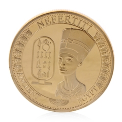 Gold Plated Ancient Egypt Nefertiti Commemorative Challenge Coin Collection Gift