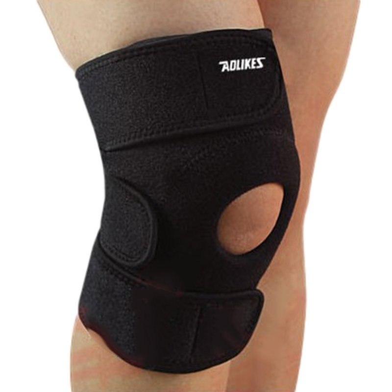 1pc genouillère élastique genouillère genouillère réglable rotule genouillères sangle de sécurité pour basket-ball