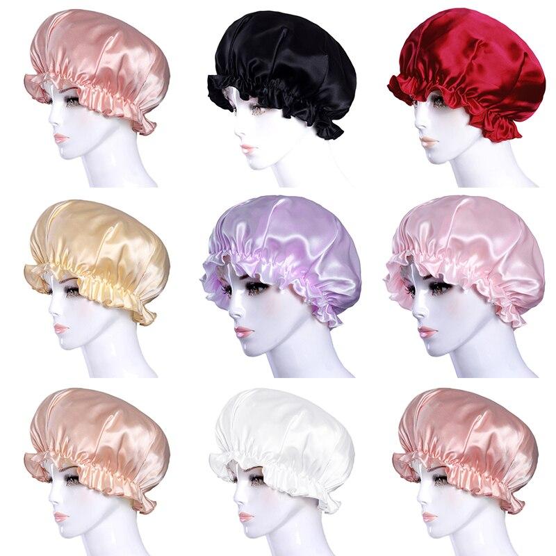 New Women Sleep Cap Cute Elastic Bonnet Beanie Headwear Soft Stain Chemo Cap Hair Loss Headwrap Bandanas Muslim Cap Fashion