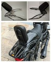 Backrest Sissy Bar Luggage Rack Cushion Pad for Harley Davidson Street 500 XG500 750 XG750 Rod 2014+
