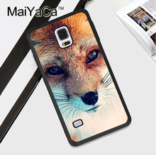 Animal Fox Phone Case For Samsung S4 S5 S6 S7 edge S8 plus Note 2 Note 3 Note 4 Note 5 TPU Fundas Cover
