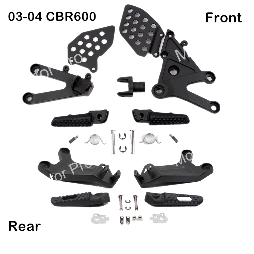 Footrests For Honda CBR600RR 2003 2004 Front Rear Foot Pegs Pedal Brackets Motorcycle Accessories CBR 600 RR CBR600 600RR 600CCFootrests For Honda CBR600RR 2003 2004 Front Rear Foot Pegs Pedal Brackets Motorcycle Accessories CBR 600 RR CBR600 600RR 600CC