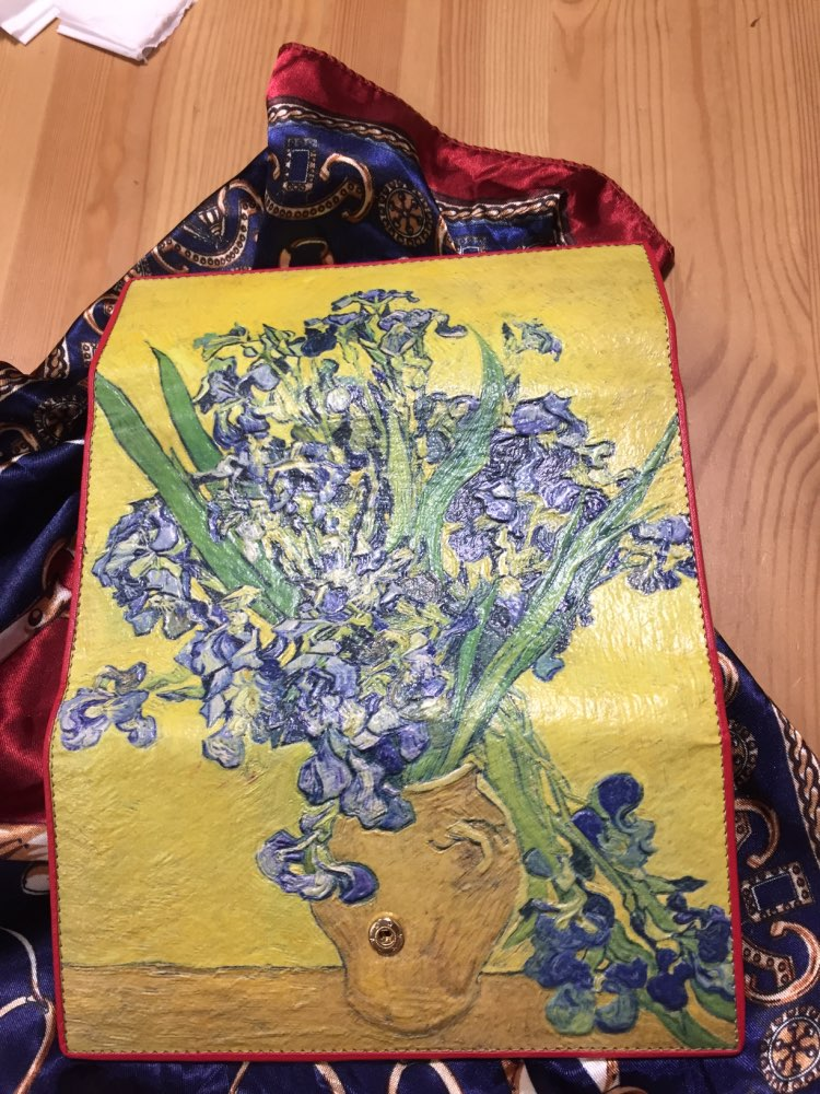 Women Leather Trifold Wallet Van Gogh Oil Painting Purse 3D Texture Mobile Case Vintage Retro Fashion Card Holder Zip Coin Bag photo review