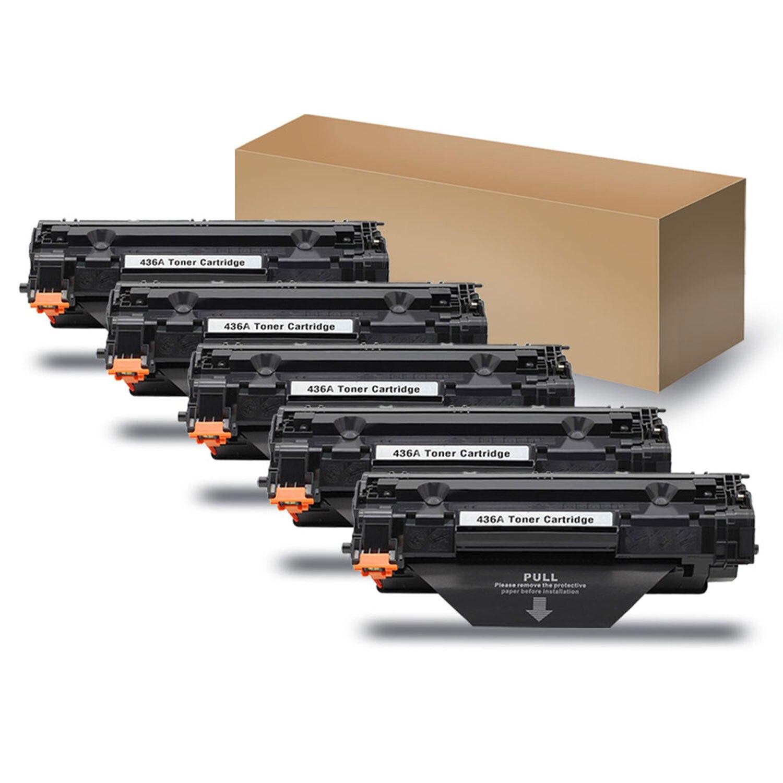 5 stücke cb436a 36a 436a tonerkartusche für hp laserjet drucker p1503 p1504...