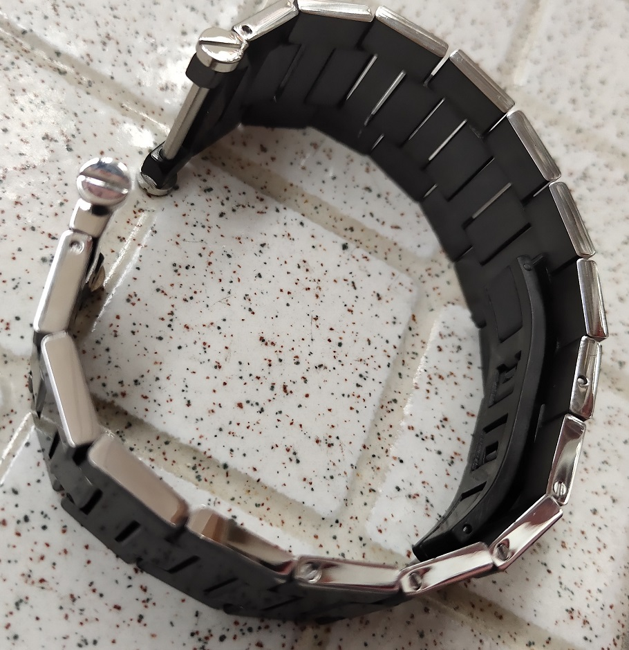 solid steel Black watch band