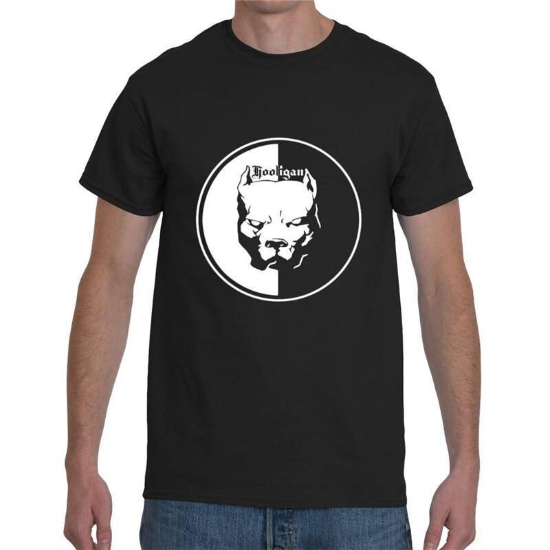 Дизайн одежды Бесплатная Доставка Soccerer Хулиган Питбуль Мужская Шеи Экипажа С Коротким Рукавом Печати Футболки