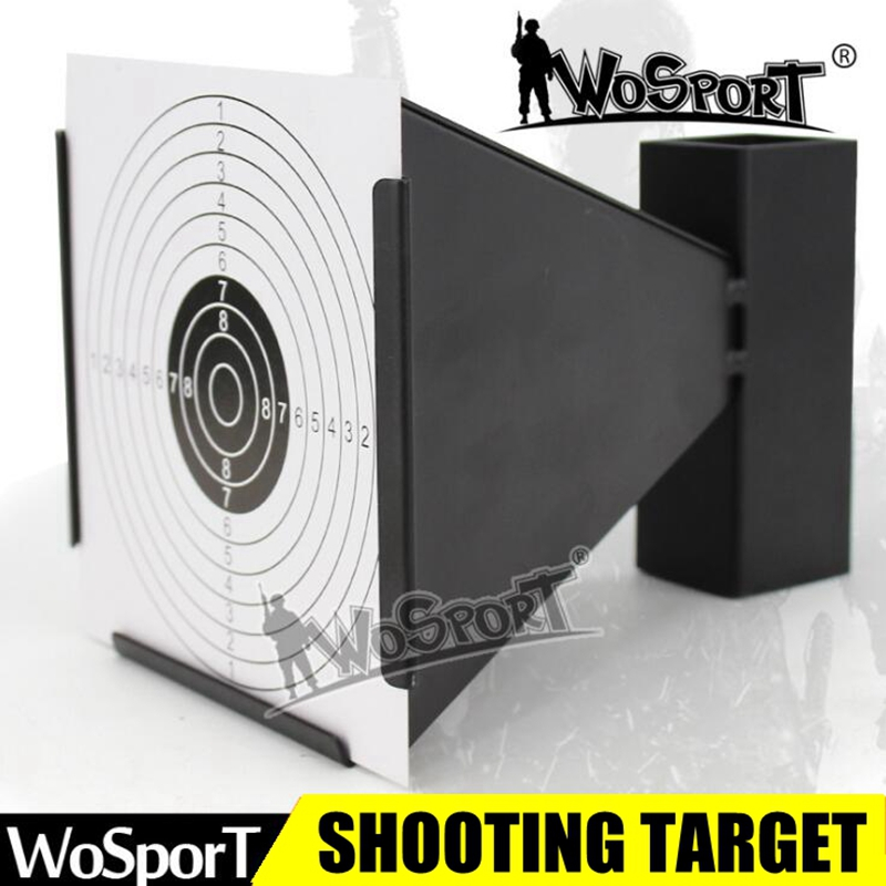 Airsoft Paintball BB Gun Archery Shot Target Metal Steel Shooting Training Plate Bead Collected Tactical Target