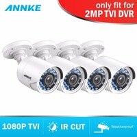 ANNKE 1080 P HD TVI Пуля CCTV камера 4 шт. комплект всепогодный корпус и 66ft супер Ночное Видение безопасности товары теле и видеонаблюдения