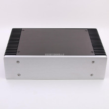S-2607 Full Aluminum amp Enclosure / mini amplifier BOX/ PSU Case silver цены