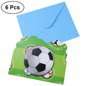 6 Pcs Football Sports Invitati