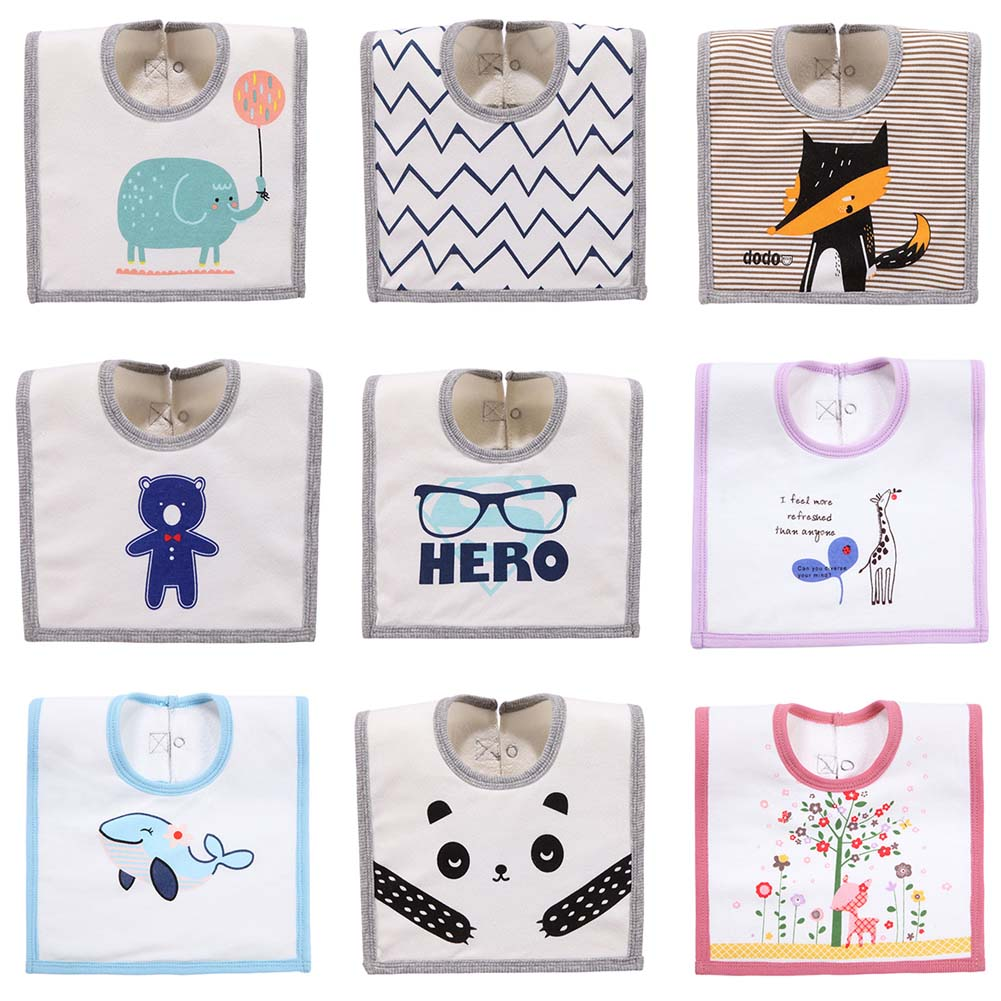 2017 New Arrive Baby Bib Towels Baby Bibs Square Terry Newborn Wear Cartoon Accessories 15 styles