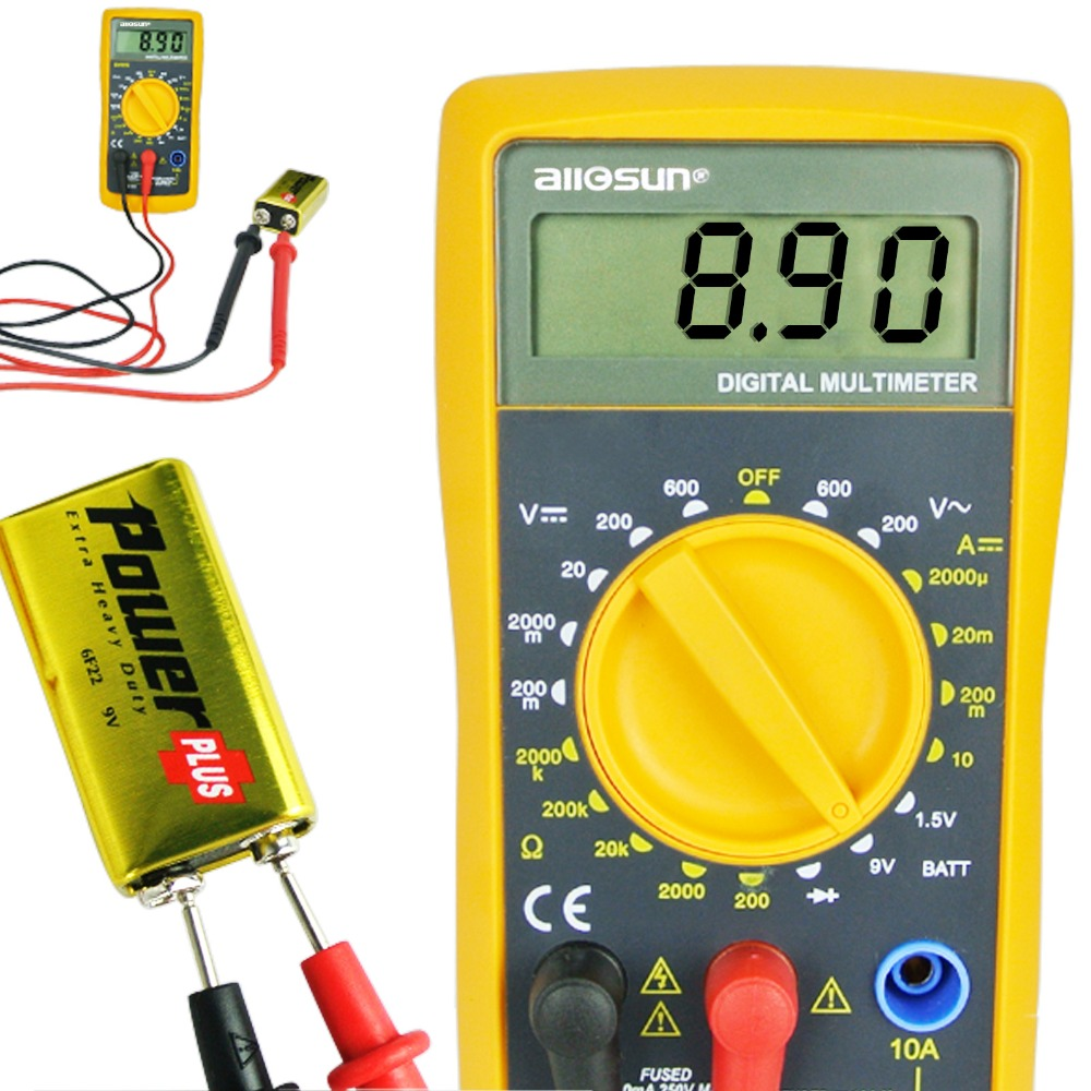 Buy Digital Multimeter With 1999 Reading Ac Dc The Current From A Battery Is Direct Voltage Resistance Diode Test Meter Tester Checker Reliable