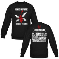 Linkin Park Men Women Black Long Sleeve Sweatshirt Custom Men's Women's Hoodies Pullovers Custom Male Female Hoodie Tops
