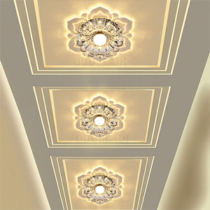 Image 1 - Led Gangpad Lichten Bloem Vormige Crystal Spots Downlighters Ingebed Plafond Creatieve Gang Woonkamer Slaapkamer