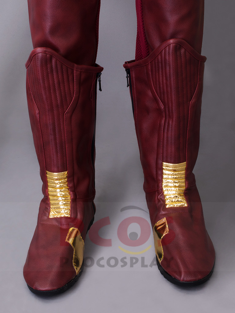 Barry Allen <font><b>Cosplay</b></font> <font><b>Boots</b></font> <font><b>The</b></font> <font><b>Flash</b></font> Season 2 <font><b>cosplay</b></font> shoes mp003196 image