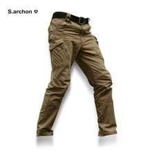 Calças masculinas táticas, calças casuais de algodão para homens, combate, swat, trabalho militar, para homens