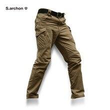 IX9 taktik erkekler pantolon Kargo rahat Pantolon Savaş SWAT Ordu aktif Askeri çalışma Pamuk erkek Pantolon erkek