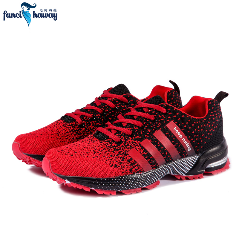 sufei Men Running Shoes Breathable Mesh Sneakers Athletic Air Cushioning Lace up Outdoor Jogging Walking Sports Trainers mens running shoes mesh fly weave light lace up man trainers outdoor air walking sports shoes breathable soft jogging sneakers page 1