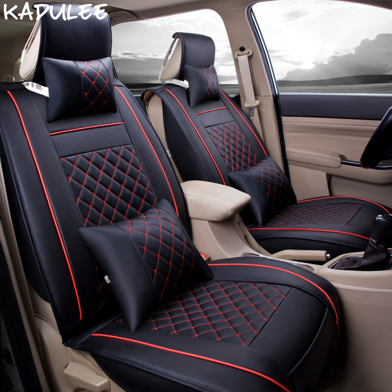 KADULEE pu leather car seat cover for citroen c5 c6 nissan qashqai j10 fiat linea chrysler 300c opel astra j h g car accessories