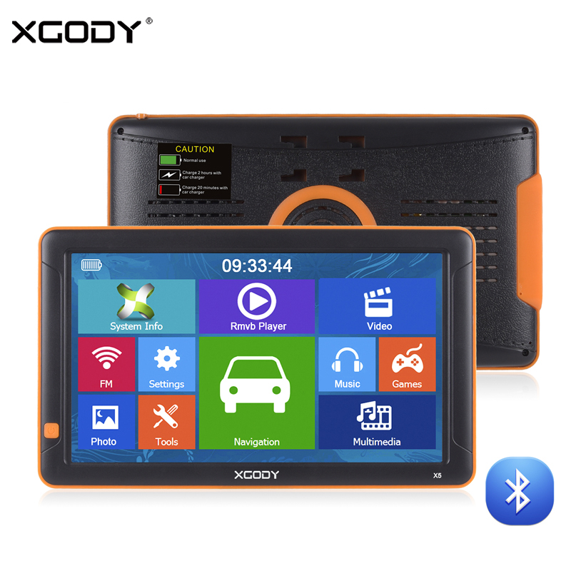 Здесь можно купить  XGODY 9 Inch Car GPS Navigation Bluetooth AVIN FM 8GB Rear View Camera Navitel Europe Map Sat Nav Truck Navigator GPS Automobile  Автомобили и Мотоциклы