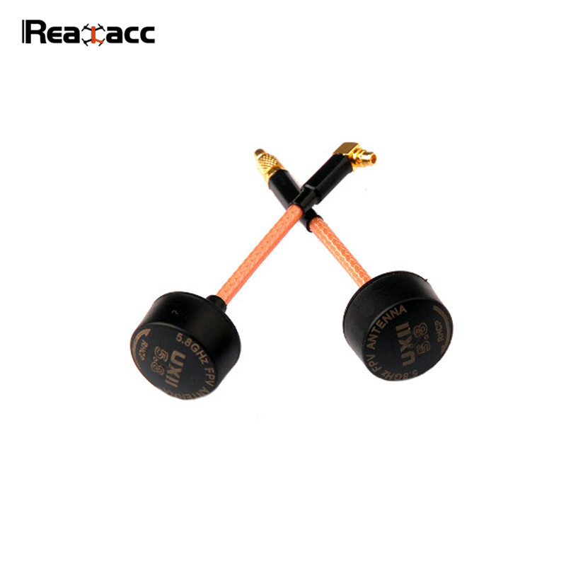Realacc UXII 5.8G 1.6dBi MMCX Straight /  MMCX 90 Degree RHCP FPV Antenna For RC Multicopter Models Transmitter Spare Parts fpv antenna antenna for rc model rhcp antenna - title=