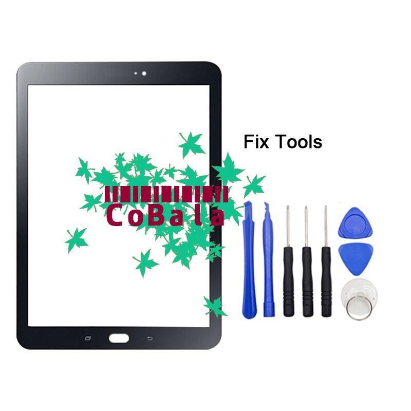 LOVAIN 1 Pcs Noir Blanc Or Pour Samsung Galaxy Tab S2 9.7 2015 T810 T815 Façade En Verre 9.7 Écran tactile LCD Extra-Atmosphérique Panneau + Outils