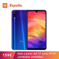 Xiaomi Redmi Note 7 de 6.3 FHD+ (ROM 32GB, RAM 3GB, Doble Camara Trasera 48+5 MP con IA, 4000 mAh) [Version Espanola]