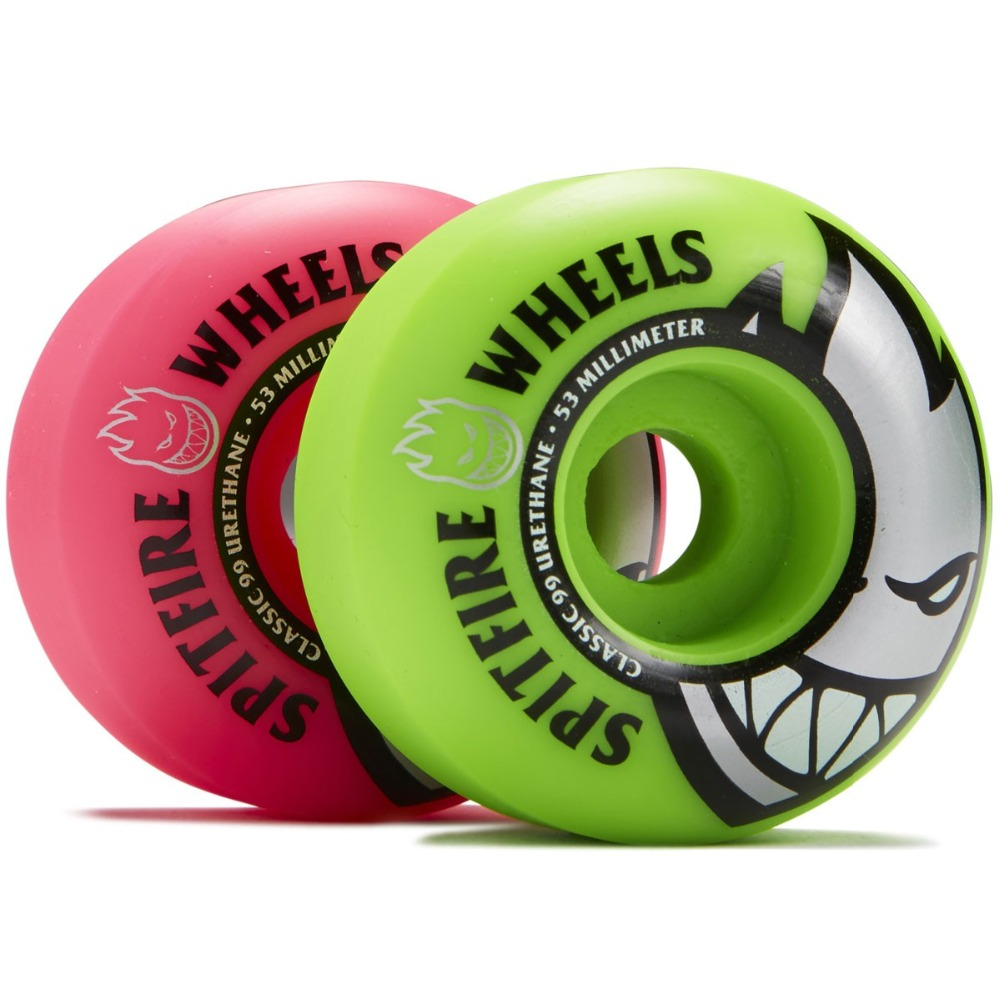Image 3 - Freeshipping Original Spitfire Wheels Bighead Classic Mashup Neon Pink / Green Skateboard Wheels   54mm 99a (Set of 4)-in Skate Board from Sports & Entertainment