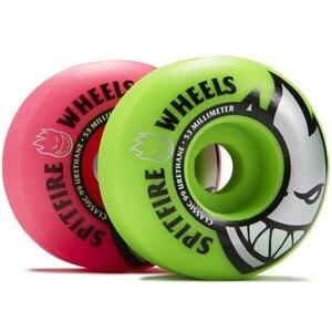 Image 3 - Freeshipping Original Spitfire Wheels Bighead Classic Mashup Neon Pink / Green Skateboard Wheels   54mm 99a (Set of 4)