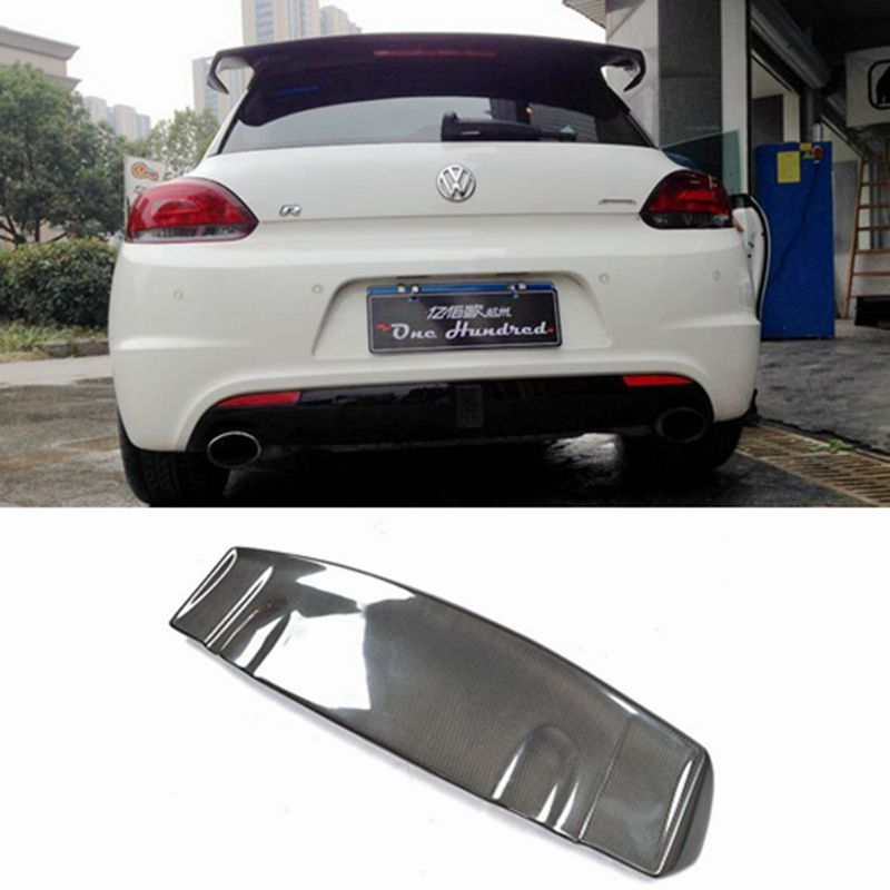 VOTEX style Scirocco Carbon Fiber Rear roof Lip Wing spoiler For Volkswagen VW Scirocco 2010 2011 2012 2013 2014 (not for R) car styling carbon fiber auto rear wing spoiler lip for vw scirocco 2010 2012