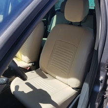 Для Nissan Terrano D10 2012-2016 Комплект модельных авточехлов из экокожи (для а/м с раздельной задн. спинкой 60/40 без боковых подушек безопасности (модель Турин)