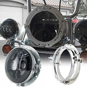 "Image 5 - 7 אינץ עגול LED פנס הרכבה סוגר טבעת עבור רכב ג יפ רנגלר JK לנד רובר defender עבור הארלי אופנוע 7 ""סוגר"